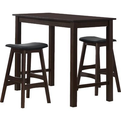Red Barrel Studio Claycomb 3 Piece Counter Height Pub Table Set