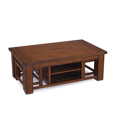 Loon Peak Newkirk Coffee Table with 2 Stools