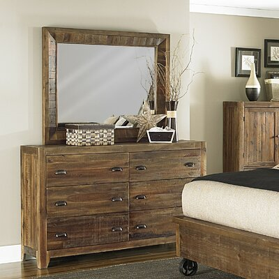 Magnussen Furniture River Ridge 6 Drawer Dresser with Mirror