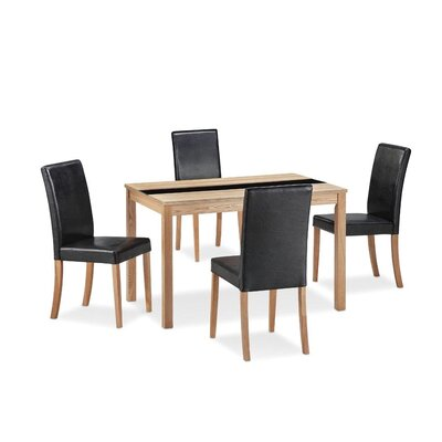 All home ashleigh dining table and 4 chairs reviews for Ashleigh dining set