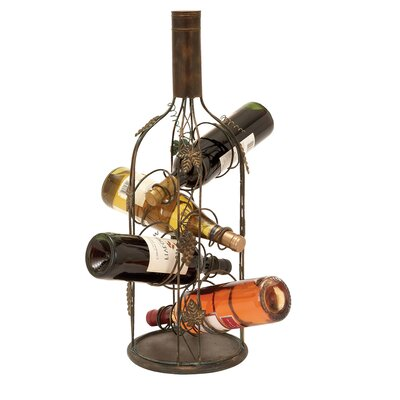 EC World Imports Urban 4 Bottle Tabletop Wine Rack