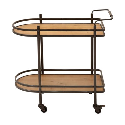 EC World Imports Mobile Tea, Serving and Kitchen Bar Cart