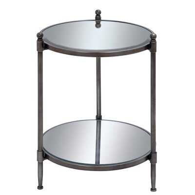 EC World Imports Urban Designs End Table with Shelf Image