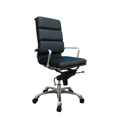 J&M Furniture Plush High Back Leather Office Chair