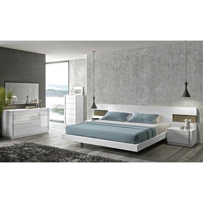 J&M Furniture Amora Platform Customizable Bedroom Set