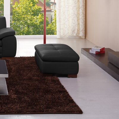 J&M Furniture Italian Leather Ottoman