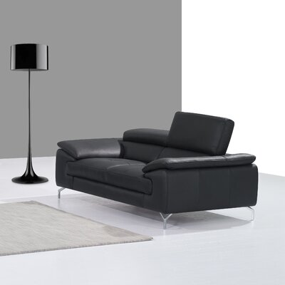 J&M Furniture Italian Leather Loveseat