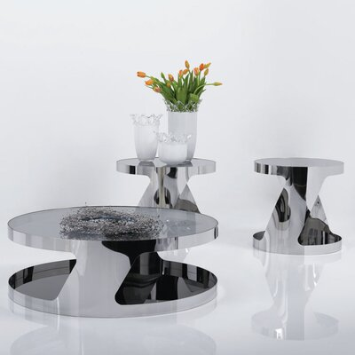 J&M Furniture Modern 2 Pieces Coffee Table Set
