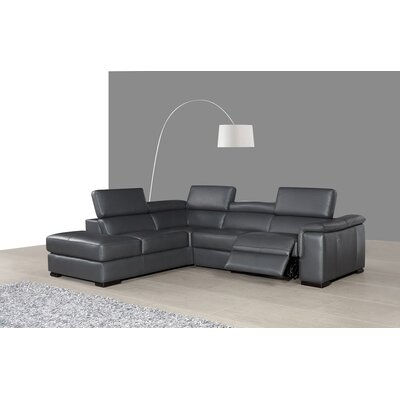 J&M Furniture Agata Premium Leather Sectional