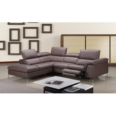 J&M Furniture Anastasia Premium Leather Sectional
