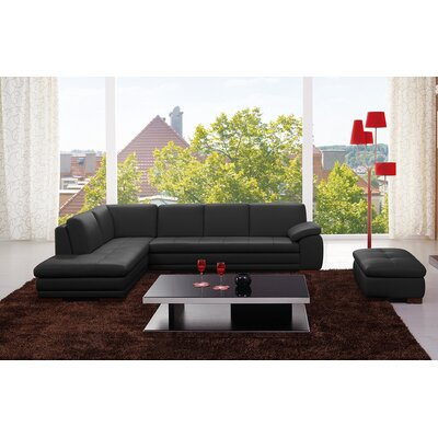 J&M Furniture Bergamo Leather Sectional