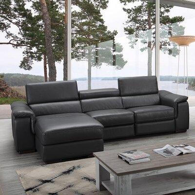 J&M Furniture Allegra Premium Leather Sectional