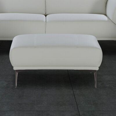 J&M Furniture Davos Leather Ottoman