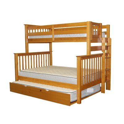 Bedz King Mission Twin over Full Bunk Bed with ..