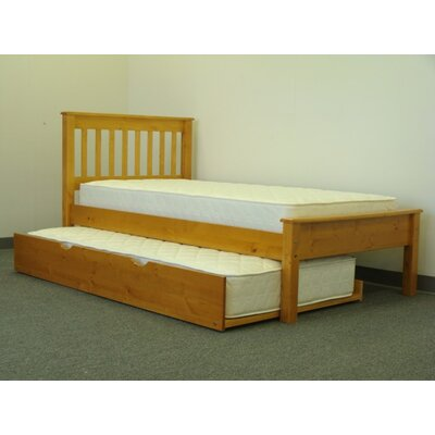 Bedz King Mission Twin Slat Bed with Trundle