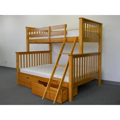 Bedz King Mission Twin over Full Bunk Bed wi..