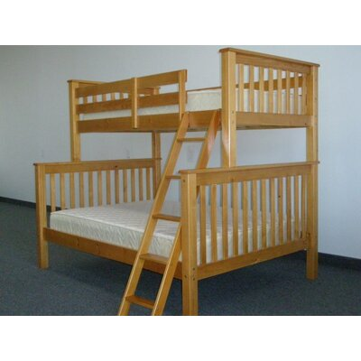 Bedz King Mission Twin over Full Bunk Bed