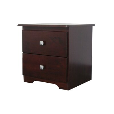 Bedz King 2 Drawer Nightstand
