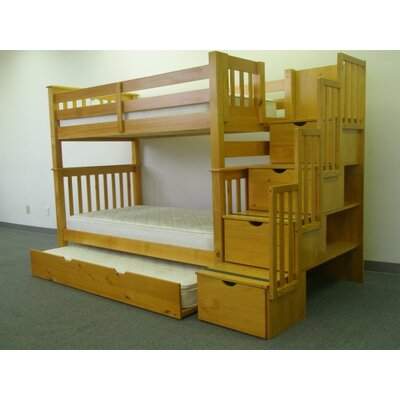 Bedz King Twin Bunk Bed with Storage