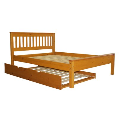 Bedz King Mission Full Slat Bed with Trundle