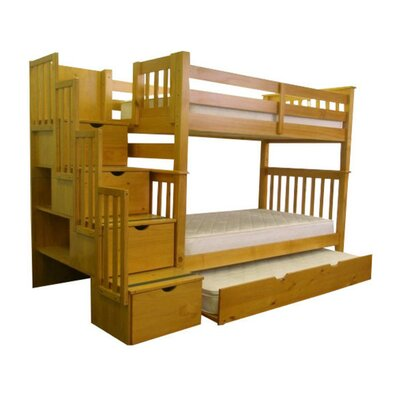 Bedz King Twin Bunk Bed with Trundle