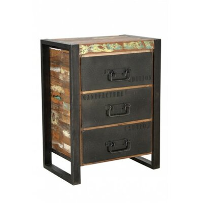 CDI International 3 Drawer Nightstand