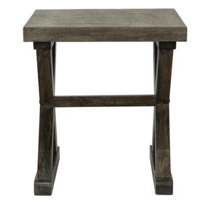 CDI International Concrete End Table