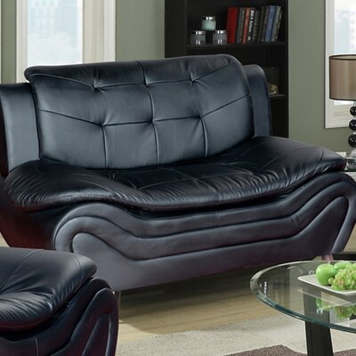 Beverly Fine Furniture Linda Leather Loveseat