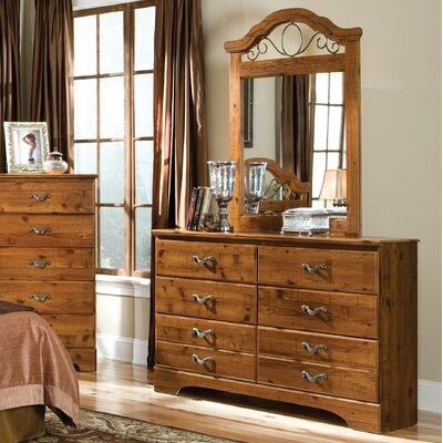 Standard Furniture Hester Heights 6 Drawer Dresser with Mirror