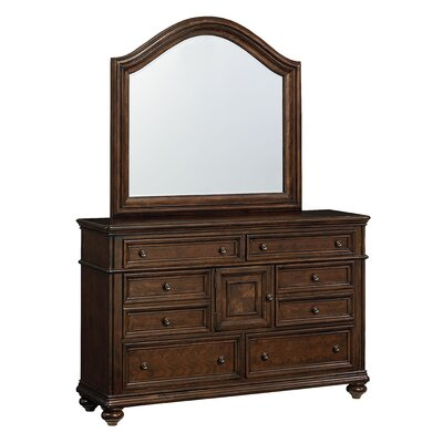 Standard Furniture Heritage 8 Drawer Combo Dresser with Mirror