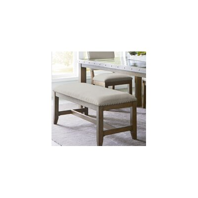 Laurel Foundry Modern Farmhouse Aubrie Upholstered Kitchen Bench