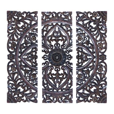 Panel Wall Decor one allium way 3 piece wood panel wall décor set & reviews | wayfair