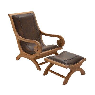 - Cole & Grey Wood Lounge Chair And Ottoman & Reviews Wayfair