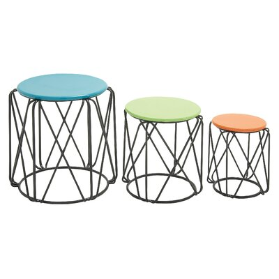 Cole & Grey 3 Piece End Table Set