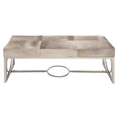 Cole & Grey Leather Bedroom Bench