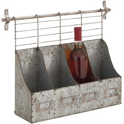 Cole & Grey 4 Bottle Wall Mounted Wine Rack