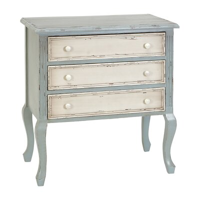 Cole & Grey 3 Drawer Wood Dresser