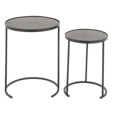 Cole & Grey 2 Piece Mosaic Nesting Table Set