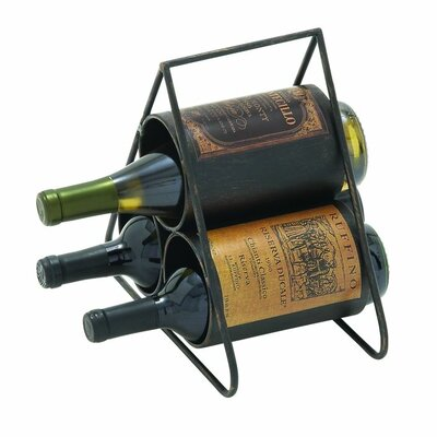 Cole & Grey 3 Bottle Tabletop Wine Rack