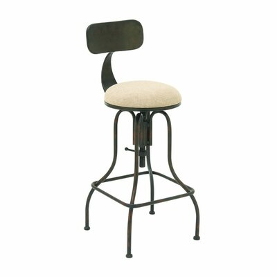 Cole & Grey Adjustable Height Swivel Bar Stool