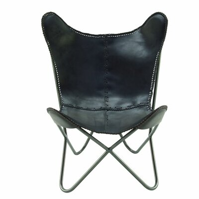 Cole & Grey Real Leather Side Chair