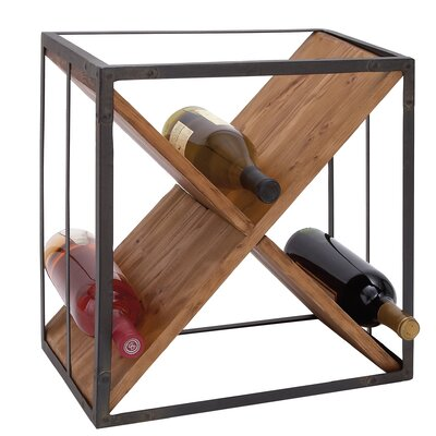 Cole & Grey 9 Bottle Tabletop Wine Rack