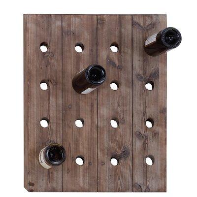 Cole & Grey 16 Bottle Wall Mounted Wine Rack