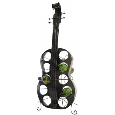 Three Star Im/Ex Inc. Large Guitar 10 Bottle Tabletop Wine Rack