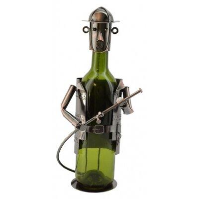 Three Star Im/Ex Inc. Fireman 1 Bottle Tabletop Wine Rack
