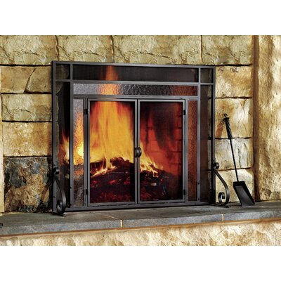 Plow & Hearth 2 Panel Steel Fireplace Screen & Reviews