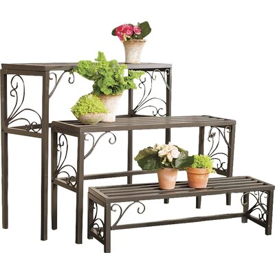 Plow Amp Hearth 3 Piece Rectangle Plant Stand Set Amp Reviews