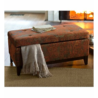 Plow & Hearth Upholstered Storage Ottoman