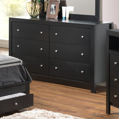 Glory Furniture Aries 6 Drawer Dresser