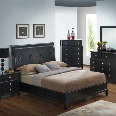 Glory Furniture Houston Upholstered Panel Bed